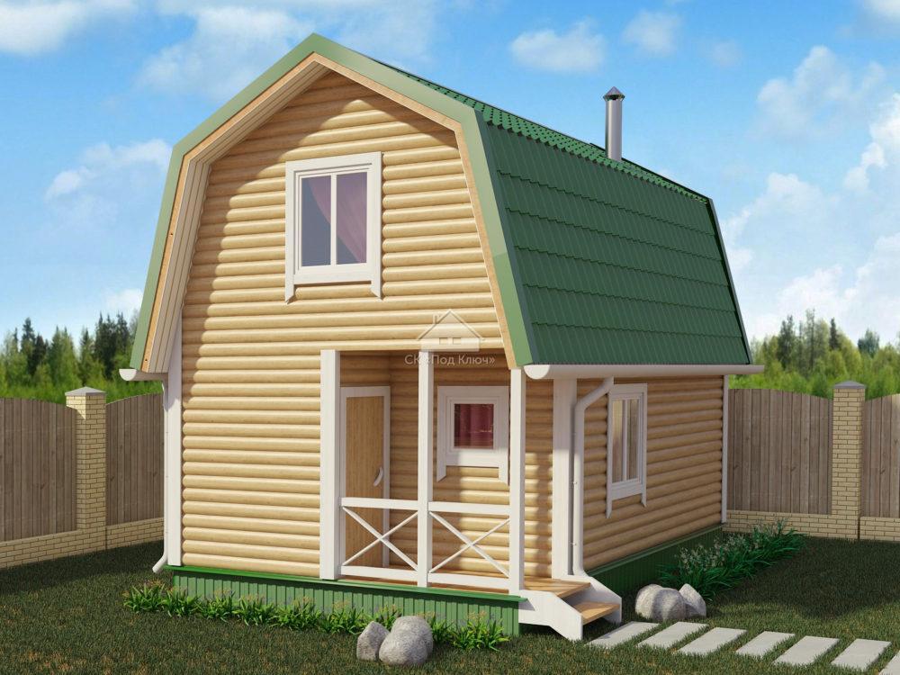 Дом-Баня каркасный 4х6 (КДБ-4)